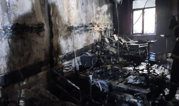 Gaziantep'te Hastane Yoğun Bakımında Yangın class=
